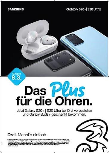 Die neue Samsung Galaxy S20 Serie jetzt bei Drei im Vorverkauf.