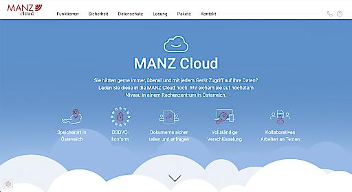 Screenshot https://cloud.manz.at/