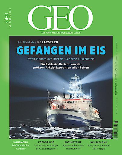 """Cover GEO Ausgabe 3/2020. Weiterer Text über ots und www.presseportal.de/nr/7861 / Die Verwendung dieses Bildes ist für redaktionelle Zwecke honorarfrei. Veröffentlichung bitte unter Quellenangabe: """"obs/Gruner+Jahr, GEO/Esther Horvath"""""""