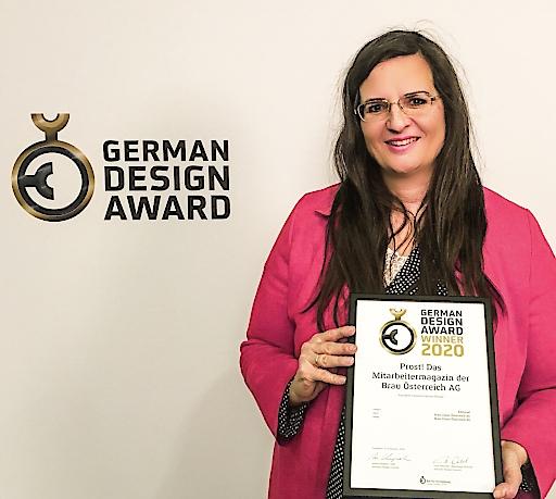 Gabriela Maria Straka, Leitung Unternehmenskommunikation & CSR der Brau Union Österreich, nahm die Auszeichnung entgegen.