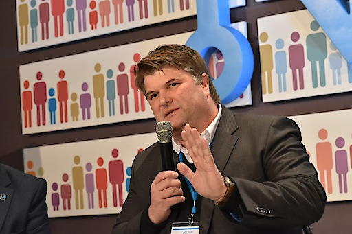 Tjark Bartels im Mayors' Talk auf der 7. Internationalen Bürgermeister/innen Konferenz NOW