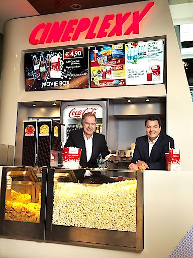 Cineplexx-Geschäftsführer: (v.l.n.r) Christian Langhammer, CEO/Hauptgesellschafter Constantin Film & Cineplexx Kinobetriebe und Christof Papousek, CFO/CO-Gesellschafter Constantin Film & Cineplexx Kinobetriebe
