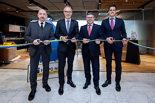 Die neue Filiale der HYPO NOE im Universitätsklinikum St. Pölten wird offiziell eröffnet.