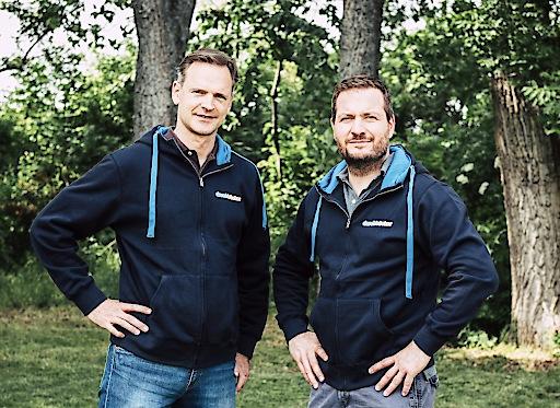 durchblicker.at Gründer und Geschäftsführer Michael Doberer und Reinhold Baudisch (v.l.n.r.).