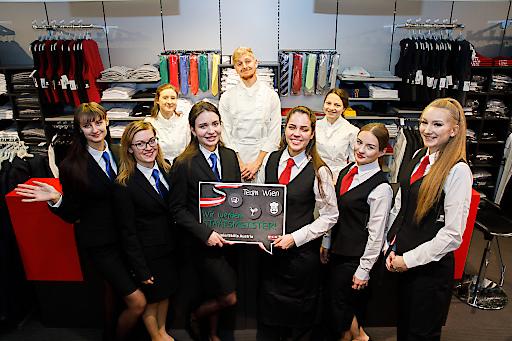 WK Wien unterstützt Tourismusteilnehmer für die juniorSkills Austria 2020 mit neuer Garderobe für den Wettbewerb