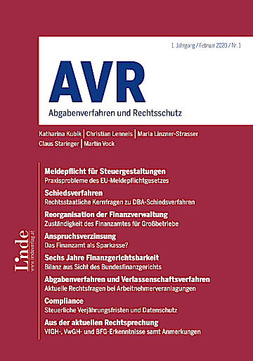 Cover AVR Ausgabe 1_2020
