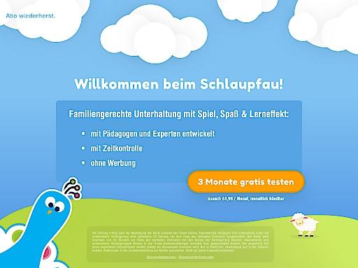 Schlaupfau Lernspaß-APP Schlaupfau für 3-7 Jährige vorübergehend gratis, auch für Nicht-Drei Kunden.