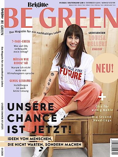 """Cover Brigitte Be Green. Weiterer Text über ots und www.presseportal.de/nr/142942 / Die Verwendung dieses Bildes ist für redaktionelle Zwecke honorarfrei. Veröffentlichung bitte unter Quellenangabe: """"obs/Gruner+Jahr, BRIGITTE BE GREEN"""""""
