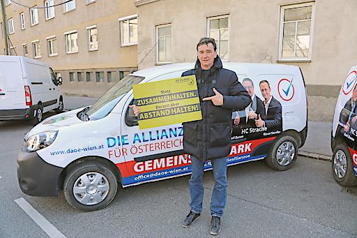 """Karl Baron """"Stets ZUSAMMENHALTEN. Derzeit ABSTAND HALTEN!"""""""