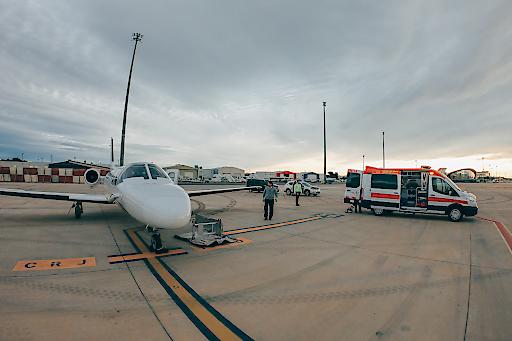 Valencia - Alles bereit für Übernahme des Patienten