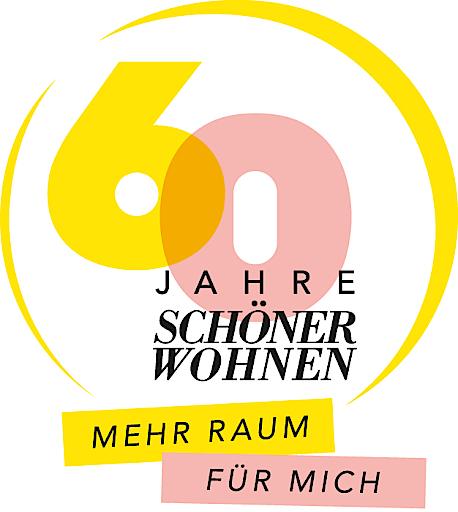 """Logo SCHÖNER WOHNEN 60 Jahre / Weiterer Text über ots und www.presseportal.de/nr/41298 / Die Verwendung dieses Bildes ist für redaktionelle Zwecke honorarfrei. Veröffentlichung bitte unter Quellenangabe: """"obs/Gruner+Jahr, SCHÖNER WOHNEN/Logo SW 60 Jahre"""""""