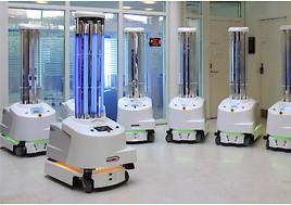 Roboter helfen weltweit im Kampf gegen das Coronavirus (FOTO)