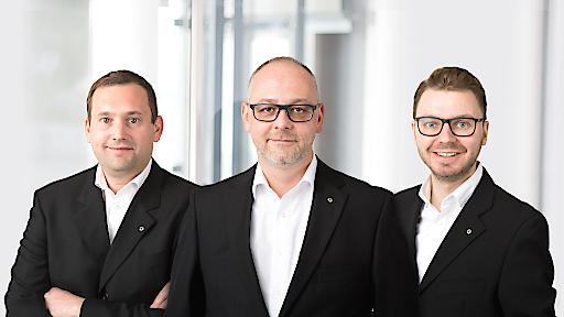 Foto Geschäftsführung v.l.n.r.: Gregor Reindl, Michael Münzer, Ewald-Marco Münzer