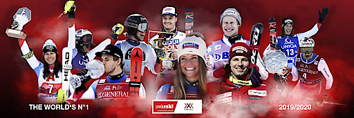 """RECORD-BREAKING PERFORMANCE LEADS THE X-BIONIC & SWISS SKI PARTNERSHIP TO HISTORIC WIN OF THE NATIONS CUP! After 31 years the Swiss Ski Alpine Team is back at the top. With more than a 1000 ranking points difference to the second placed Austria, the ski team equipped by X-Bionic won the nation's ranking. Additionally the Swiss athletes dominated the individual speed category rankings. (PPR/X-Bionic). Weiterer Text über ots und www.presseportal.ch/de/nr/100068561 / Die Verwendung dieses Bildes ist für redaktionelle Zwecke honorarfrei. Veröffentlichung bitte unter Quellenangabe: """"obs/PPR/X-Bionic"""""""