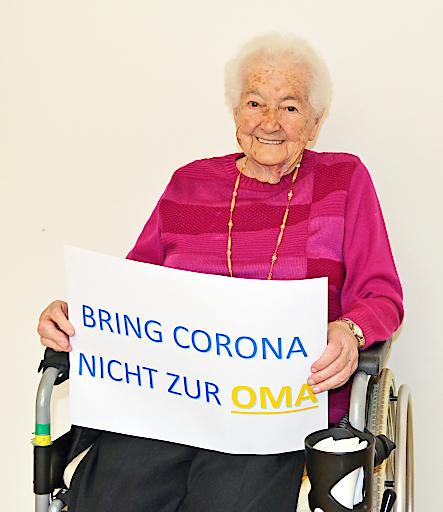 Bewohnerin im NÖ Pflege- und Betreuungszentrum Gutenstein