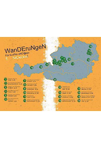 """Wanderkarte Österreich, """"Wandern in die Welt der Dinos"""", Alexander Lukeneder, Servus Verlag, 2020"""