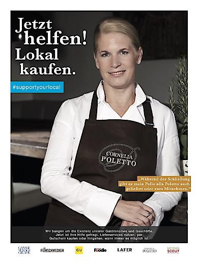 """GVG Kampagne """"Rettet den Einzelhandel"""" - Motiv Poletto / Weiterer Text über ots und www.presseportal.de/nr/15979 / Die Verwendung dieses Bildes ist für redaktionelle Zwecke honorarfrei. Veröffentlichung bitte unter Quellenangabe: """"obs/GANSKE VERLAGSGRUPPE"""""""