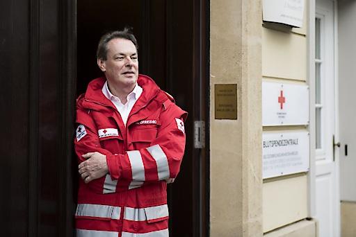 Österreich, Wien, Mai 2018. Mag. Michael Opriesnig; stv. Generalsekretär des Österreichischen Roten Kreuzes. Querformat.