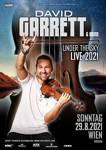 DAVID GARRETT kommt 2021 nach Wien die Krieau
