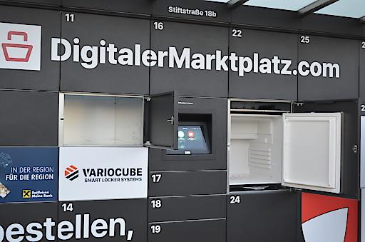 Innovative Übergabestation mit gekühlten und ungekühlten Schließfächern in St. Florian bei Linz