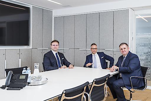 Der neue Wiener Privatbank-Vorstand v.l.n.r: Juraj Dvorak, Christoph Raninger (CEO), Eduard Berger