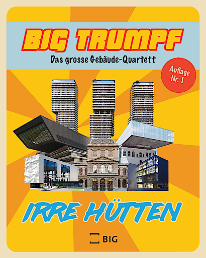 """Retro-Gebäudequartett """"BIG Trumpf"""" als witziger und geistreicher Zeitvertreib für zuhause"""