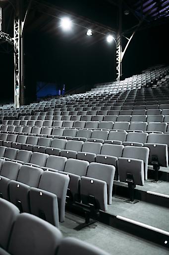 Leerer Zuschauerraum, kein Publikum
