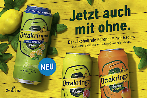 Die beste Kombi für die Sommertage: Ottakringer Brauerei mit Radler hoch drei