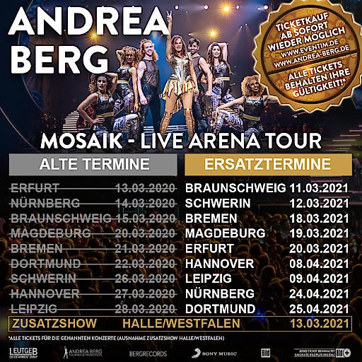 Andrea Berg MOSAIK-Live Arena Tour