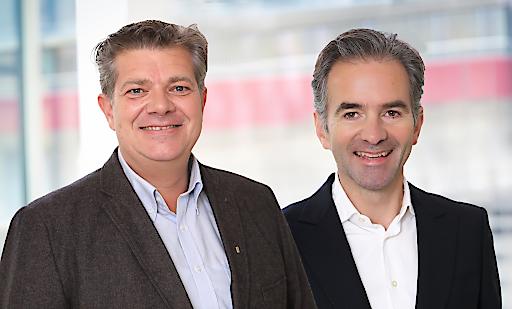 Andreas Rotter und Martin Hagleitner plädieren als Obmänner des Zukunftsforum SHL für eine flächendeckende Heizungsmodernisierung für das Klima und die Wirtschaft (v.l.n.r.).