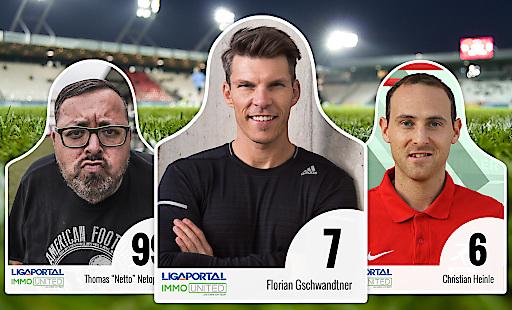 Prominente wie Unternehmer und Investor Florian Gschwandtner (Mitte) unterstützen die Ligaportal-Fan-Aktion. Auf ligaportal.at/fan kann jeder von sich eine Papp-Figur drucken und es dem Herzensklub zukommen lassen - der Verein erhält 12 Euro Unterstützung.