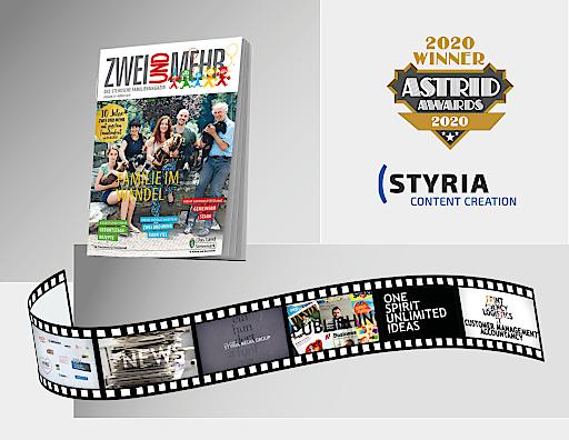 """GOLD für die Styria Content Creation und ihren Film """"150 Jahre Styria Media Group"""" bei den ASTRID AWARDS"""