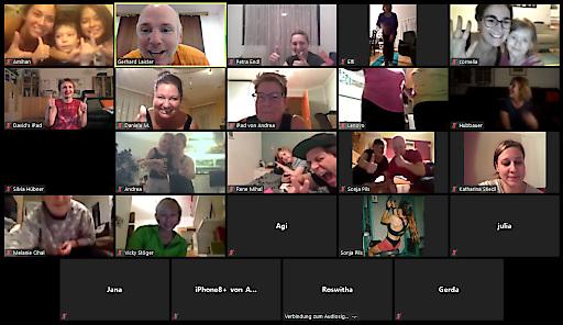 Gruppenfoto vom interaktiven Online-Training