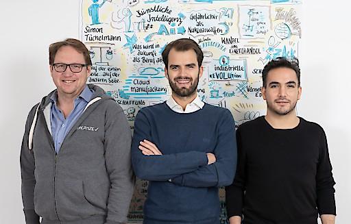 KREATIZE v.l.n.r.: Thomas Hoffmeister (CCO), Simon Tüchelmann (CEO), Daniel a. Garcia Rodriguez (CTO), (c) Benjamin Ludigs
