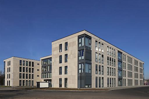 Der Immobilienpublikumsfonds LLB Semper Real Estate mit einem Fondsvolumen von über EUR 1 Mrd. ist aktuell in 57 Objekte ausschließlich in Österreich und Deutschland investiert - unter anderem dieser Bürokomplex in Kassel, Deutschland