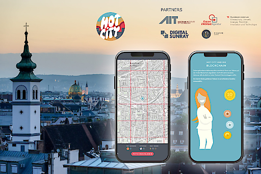 Im Projekt HotCity wird eine App entwickelt, welche die Bevölkerung für Abwärmequellen in der Stadt sensibilisiert und zum Suchen animiert