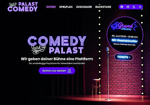 Comedypalast.at ist eine österreichische Live Stream Kabarett Plattform. Foto: Brokkoli