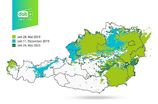 Empfangskarte DAB+ in Österreich