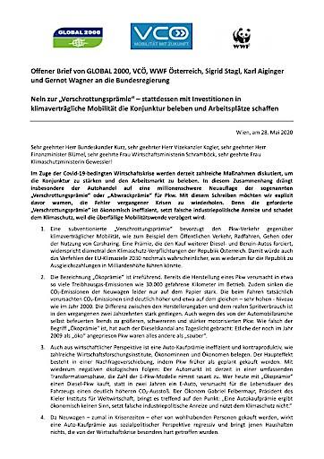 Offener Brief: Wirtschafts- und Umweltfachleute warnen vor der Verschrottungsprämie