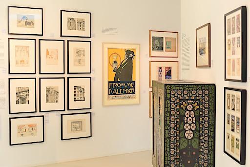 Einblick in das Gustav Klimt-Zentrum am Attersee