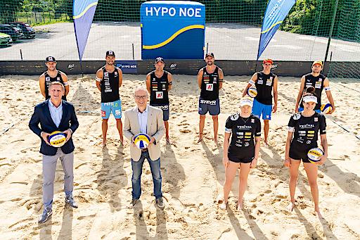 Die niederösterreichische Landesbank ist in diesem Jahr außerdem erstmals Namensgeber für den HYPO NOE Beachvolleyball Champions Cup