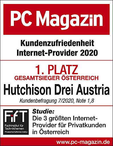 Drei Gesamtsieger PC Magazin Kundenzufriedenheit Internetanbieter