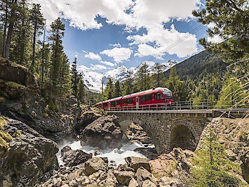 Allegra im Bernina Express