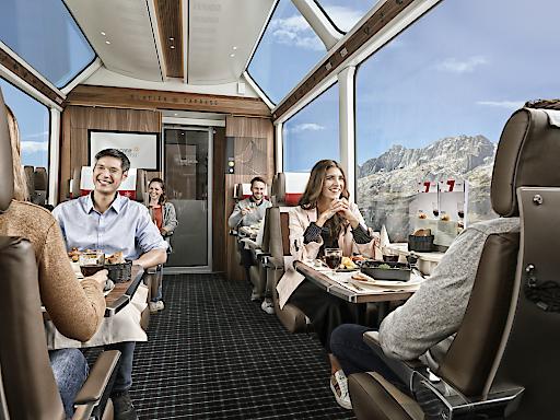 Glacier Express - 1. Klasse Innenansicht nach Rundumerneuerung.