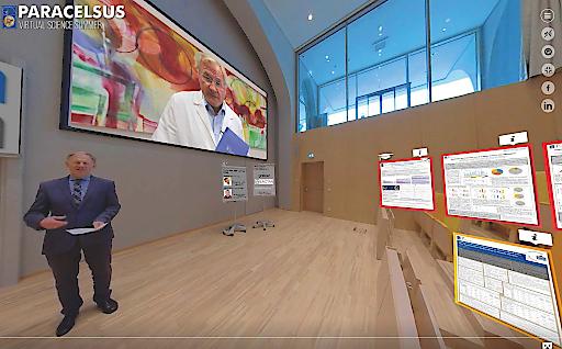 """""""Virtual Science Summer"""" der PMU, virtuelle 360°-Grad-Plattform für Forschende aus dem gesundheitswissenschaftlichen Bereich"""