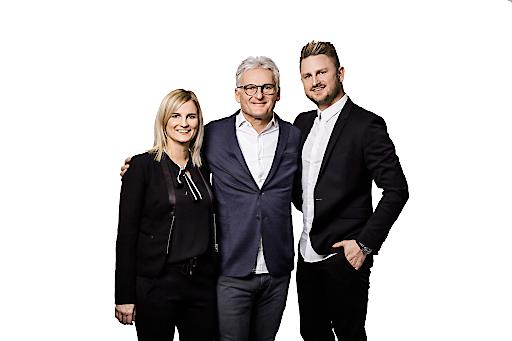 Geschäftsführung sehen!wutscher. Im Bild v.l.nr.: Alexandra Wutscher, Fritz Wutscher und Fritz Wutscher jr.