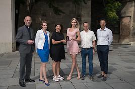 Dompfarrer Faber und Miss Vienna werden PeaceBell-Botschafter