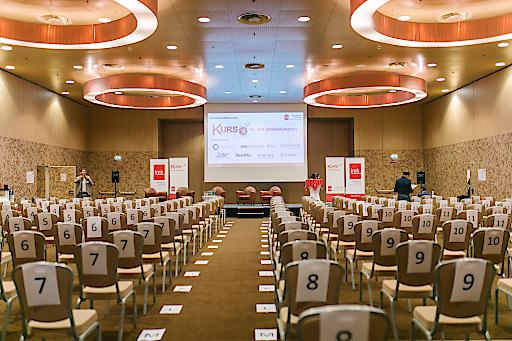Der Veranstaltungssaal im ATH Savoyen Wien war top vorbereitet.