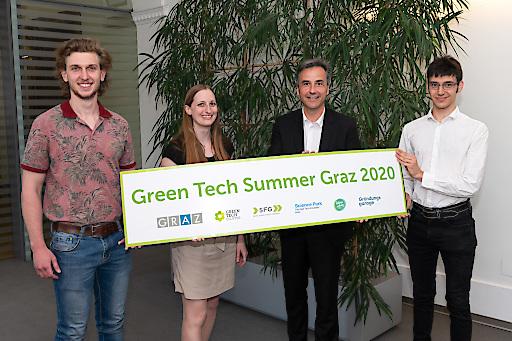 Beim Green Tech Summer Graz 2020 werden Studierende unterstützt, ihre grüne Geschäftsidee zu einem Start-up weiterzuentwickeln. Pilotprojekt erstmalig in Österreich initiert von der Stadt Graz, der SFG, des Green Tech Clusters, dem Science Park Graz und der Gründungsgarage.