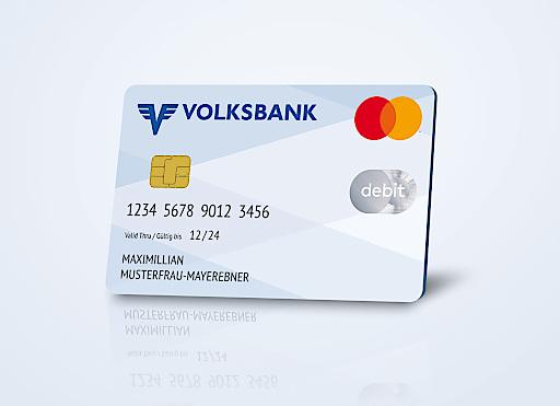 Die neue Debit Mastercard der Volksbank